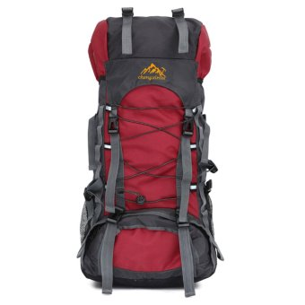 60L Camping Travel Waterproof Sport Outdoor Backpack(Red) - intl