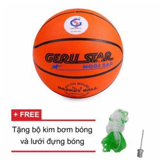 Bóng rổ Gerustar số 5 (tặng kèm kim bơm + túi lưới đựng bóng)