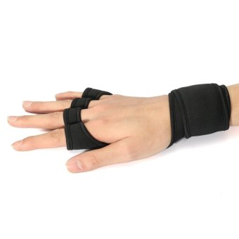 L Fitness Gloves Weight Lifting Gym Workout Sport Exercise Training Wrist Wrap - intl