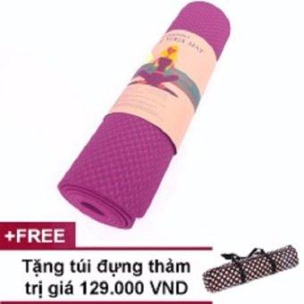 Thảm Tập Yoga TPE 1 Lớp 6mm + Tặng túi đựng thảm thời trang