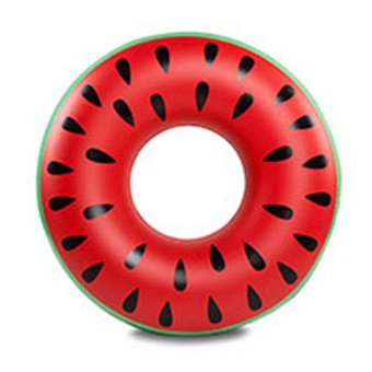 Moonar Inflatable Adult Fruit Watermelon Swim Ring (70#) - intl