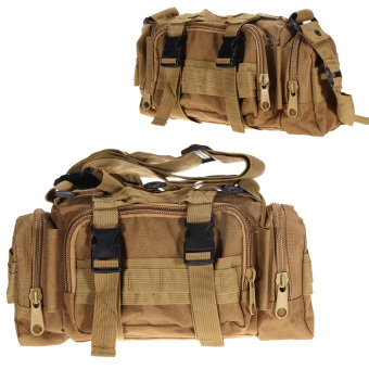 Khaki Outdoor Military Tactical Waist Pack Camping Hiking Pouch Bag - intl