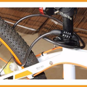 Khóa dây xe đạp chống trộm 4 số, bền đẹp, tiện lợi 100cm (Đen)
