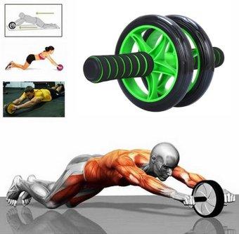 Máy tập cơ bụng đa năng hình bánh xe Mi Shop (Xanh lá)