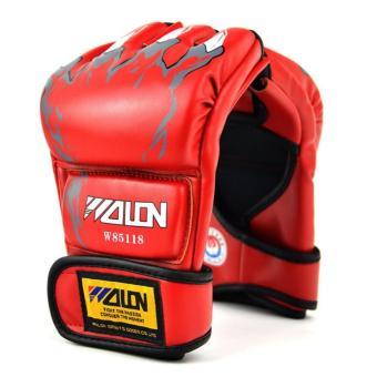 Găng tay Boxing hở ngón GocgiadinhVN(đỏ)