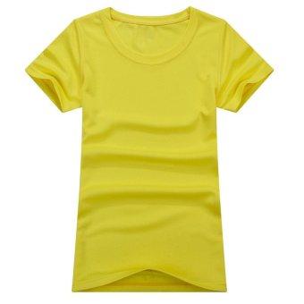 1PC Outdoor Women Sportwear Quick Dry T-Shirts Yellow/XL