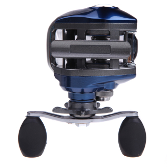 AF103 10+1BB Ball Bearings Right Hand Bait Casting Fishing Reel High Speed 6.3:1 (Blue) - intl
