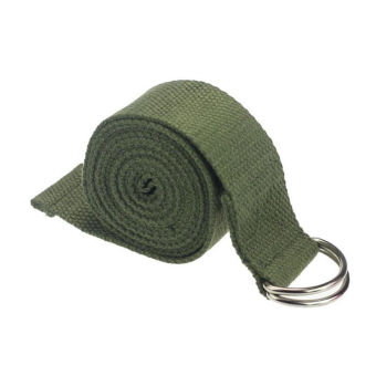 180cm Yoga Stretch Belt Fitness Exercise Training Strap Belt - Army Green - Intl