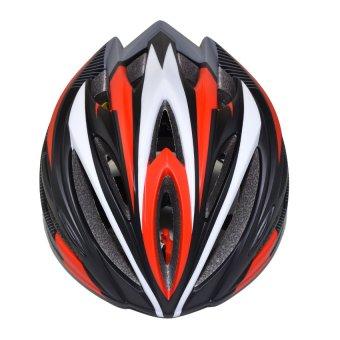 Nón bảo hiểm xe đạp thể thao Suport (Đen Đỏ Trắng)