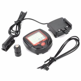 Đồng hồ tốc độ xe đạp SunDing 548B GX-326 và 2 đèn Led gắn van xe (đổi màu)