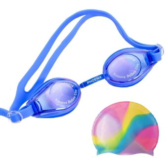 Bộ combo Kính bơi Phoenix 203 + Mũ bơi Cima