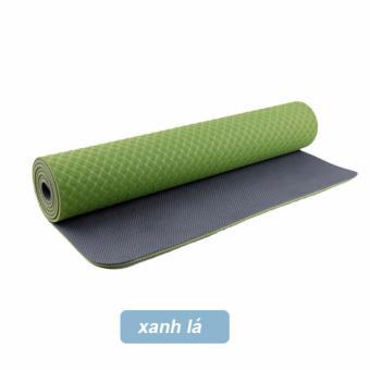 Thảm tập Yoga TPE 6mm 2 lớp Đài Loan - Tặng túi thời trang