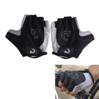 Bicycle Sport Gel Half Finger Gloves Black - intl