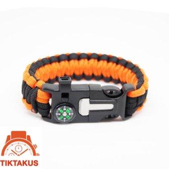 Vòng tay sinh tồn Paracord ( Cam) 05 - Tiktakus