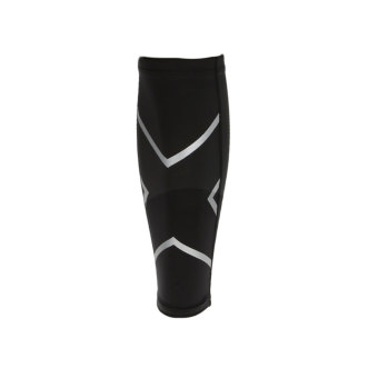 BolehDeals Basketball Compression Calf Shin Support Wrap Sports Brace Sleeve L Black - intl