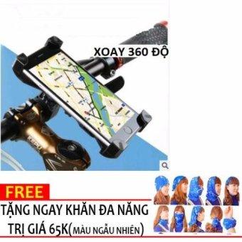 Gía đỡ trên tay lái xe đạp cho điện thoại+ KHĂN PHƯỢT N140