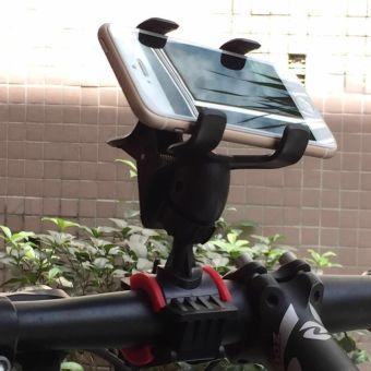 Giá đỡ kẹp điện thoại gắn tay lái xe đạp, moto phượt cao cấp H83-Đen