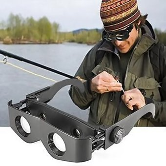 Portable Glasses Style Telescope Magnifier Binoculars For Fishing Concert- - intl