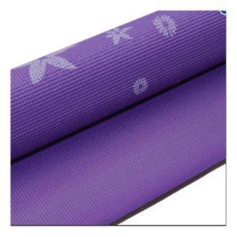 Thảm tâp Yoga hoa phucthanhsport (Tím)