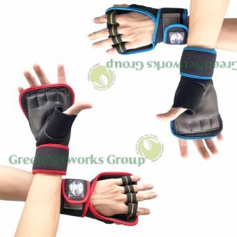 Bộ 2 cặp găng tay tập gym thể hình cao cấp GnG (xanh) (đỏ)