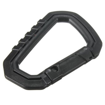 Mountaineering Bag Plugins Tech Fast Latchkey D Buckle Black Key Ring - intl