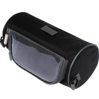 Túi treo ghi đông xe đạp chống nước có cửa cảm ứng cho điện thoại kiêm túi du lịch Travel Season H121-Xanh đen