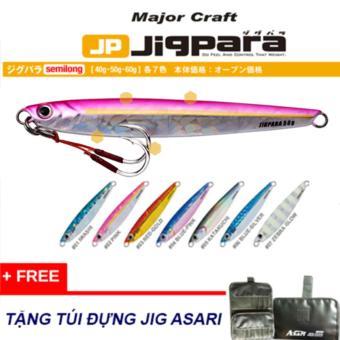 Mua 5 Mồi jig Major Craft jigpara 60g tặng túi đựng jig asari.