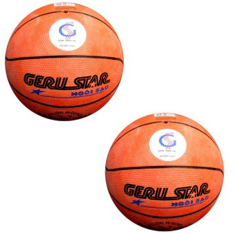 Bộ 2 quả bóng rổ Gerustar số 5 cao su (Cam)