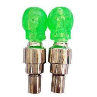 Bộ 2 đèn led gắn van xe hình đầu lâu
