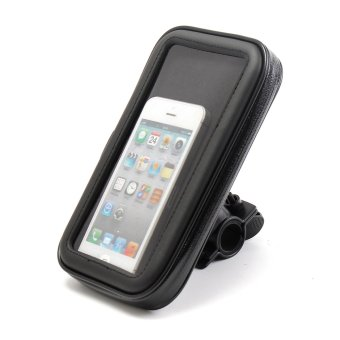 Motorcycle Bike Handlebar Holder Mount Waterproof Bag Case for Mobile Phone GPS - intl