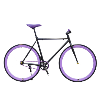 Xe đạp Fixed Gear Single Speed (Đen Tím)
