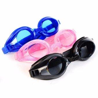 Kính bơi cao cấp cho bé + bịt tai, bịt mũi (Xanh)