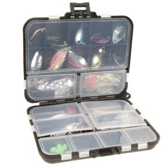 37pcs Metal Spoon Fishing Lure Kits Spinning with Box Tackle - INTL