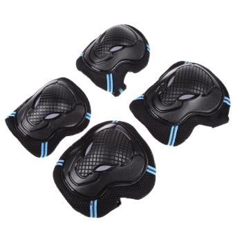 Roller Skating Skateboard Knee Elbow Wrist Protective Guard Gear Pack M (Intl)