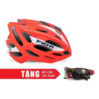 Nón bảo hộ cho người đi xe đạp FORNIX A02N050L (Cam) + Tặng Mắt kính thời trang