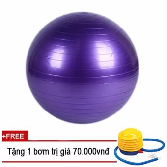 Bóng tập Yoga 75cm GocgiadinhVN(Tặng 1 bơm tay mini)