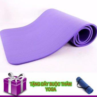 Thảm Tập Yoga TPE Siêu Bền Loại Dày 10mm (tím tặng dây đeo)