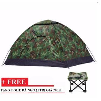 Lều dã ngoại vải dù quân đội tặng kèm 2 ghế cơ động