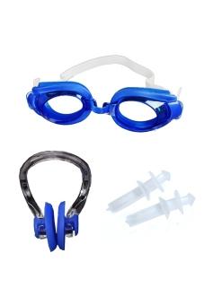 Bộ Kính Bơi + Bịt Mũi + Bịt Tai (phụ Kiện Bơi Cá Nhân) USA Store