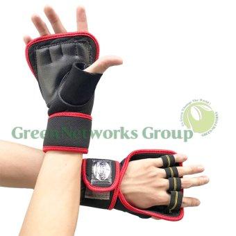 Bộ 2 găng tay tập tạ thể hình cao cấp GnG (đỏ)