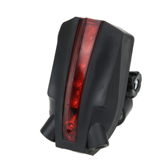 Cycling Bike Bicycle LED Laser Beam Rear Tail Light 3 Modes Safety Lamp - intl