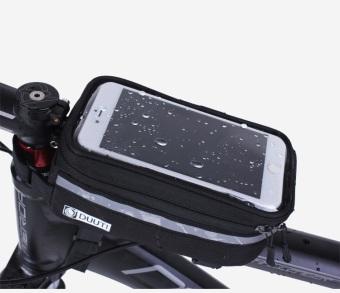 Túi bao trên xe đạp chống sóc có cửa sổ cảm ứngchống nước cho điện thoại BT99.77-ĐEN XANH