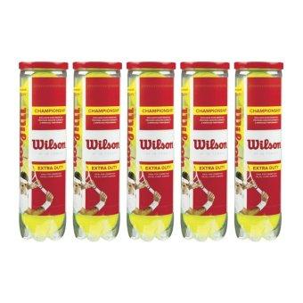 Mua Bộ 5 hộp bóng Tennis Wilson Champion 4 quả / hộp giá tốt nhất
