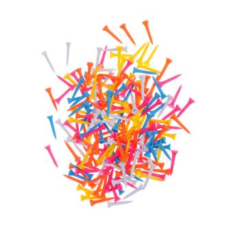 BolehDeals 200 Plastic Mixed Color Golf Tees Golf Practice Training Accessories 42mm - intl