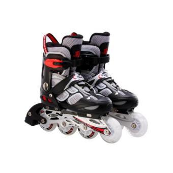 Giầy trượt Patin có đèn 835LSG màu ghi đen - thể thao