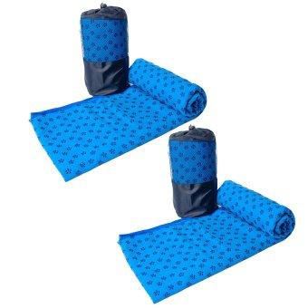 Bộ 2 khăn trải thảm tập Yoga với hạt PVC chống trơn (Kèm túi đựng đi cùng)