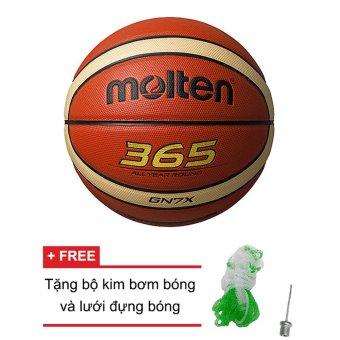 Quả bóng rổ Molten (Nhật Bản) BGN7X da PU +Tặng bộ kim bơm bóng và lưới đựng bóng