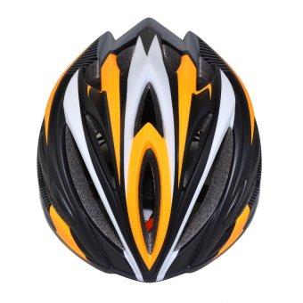 Nón bảo hiểm xe đạp thể thao Suport (Đen Cam Trắng)