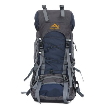 60L Camping Travel Waterproof Sport Outdoor Backpack(Dark Blue) - INTL