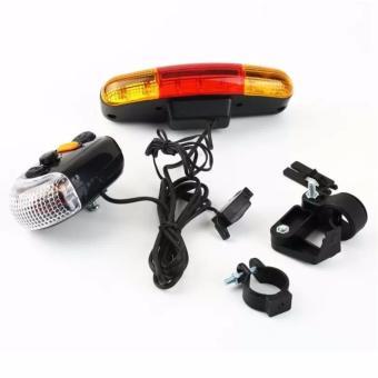 Bộ còi và đèn tín hiệu xe đạp XC-408 và 2 đèn Led gắn van xe (đổi màu)